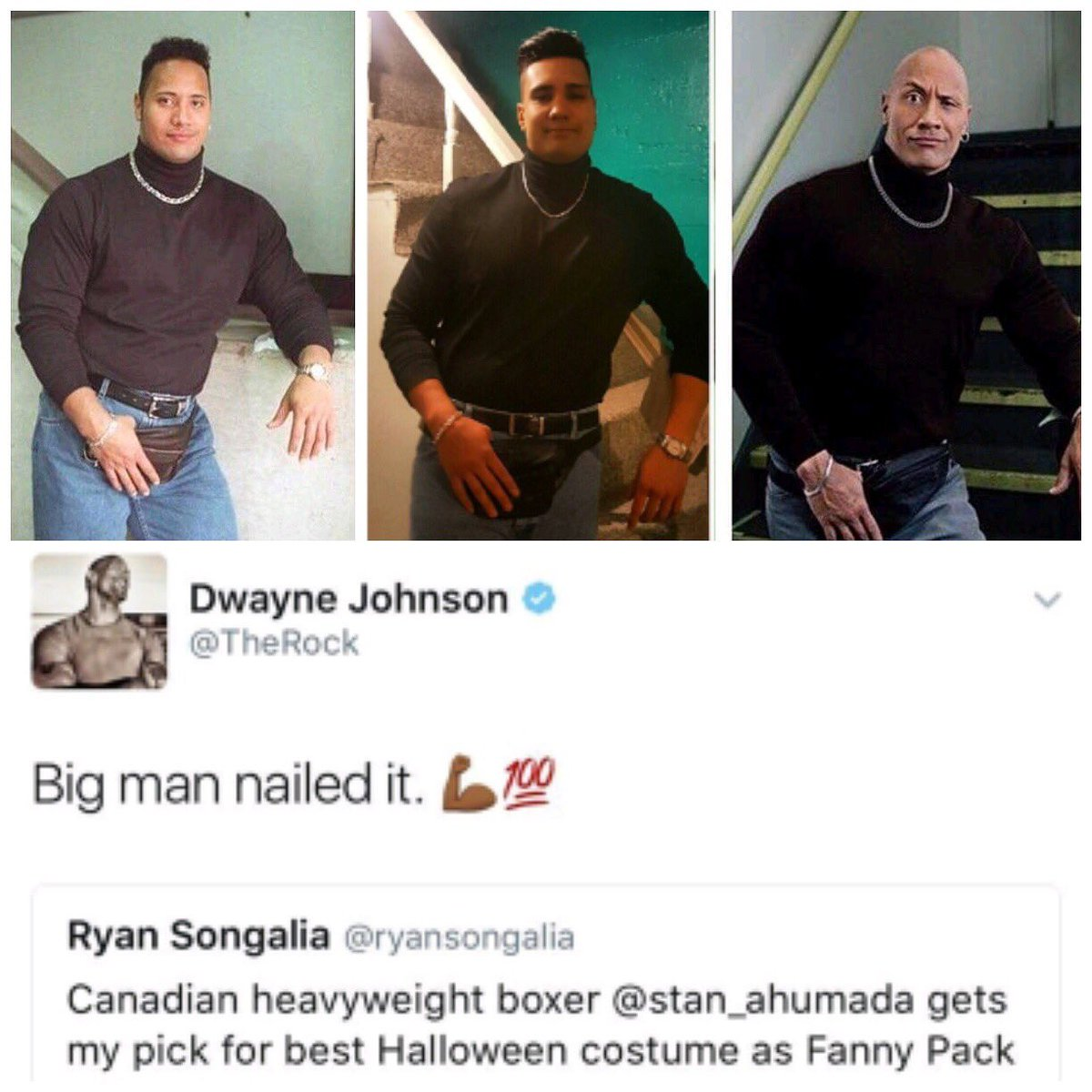 Stan Ahumada on Twitter  #TBT to last Halloween when I dressed up as the 90s Dwayne Johnson! @TheRock thanks for the retweet and comment!u2026    sc 1 st  Twitter & Stan Ahumada on Twitter: