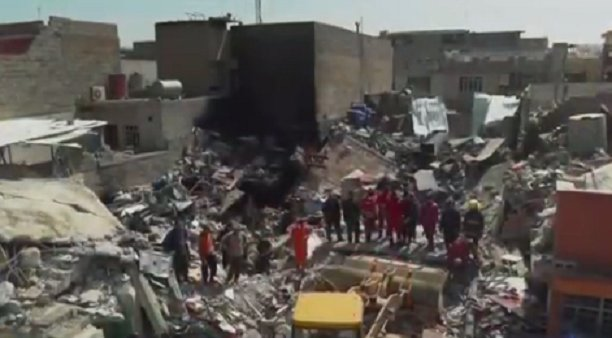 Pentagon: 100+ civilians were killed after US bombing in Mosul; ISIS devices triggered add'l explosions. https://t.co/e9WZcI20Gq