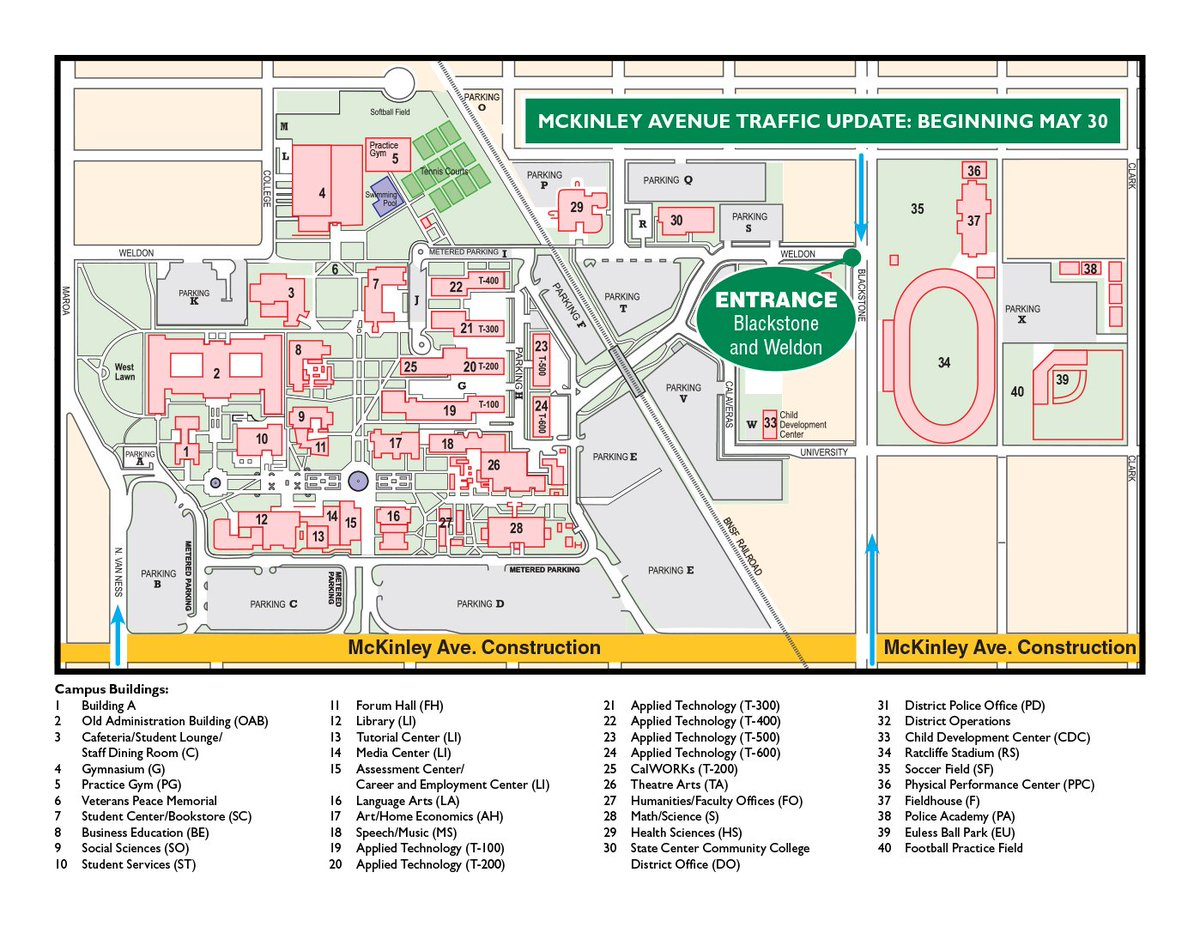 fresno city college on twitter mckinley will be closed to  - fresno city college on twitter mckinley will be closed to westboundtraffic btwn blackstone  van ness  lane will be open to eastboundtraffic