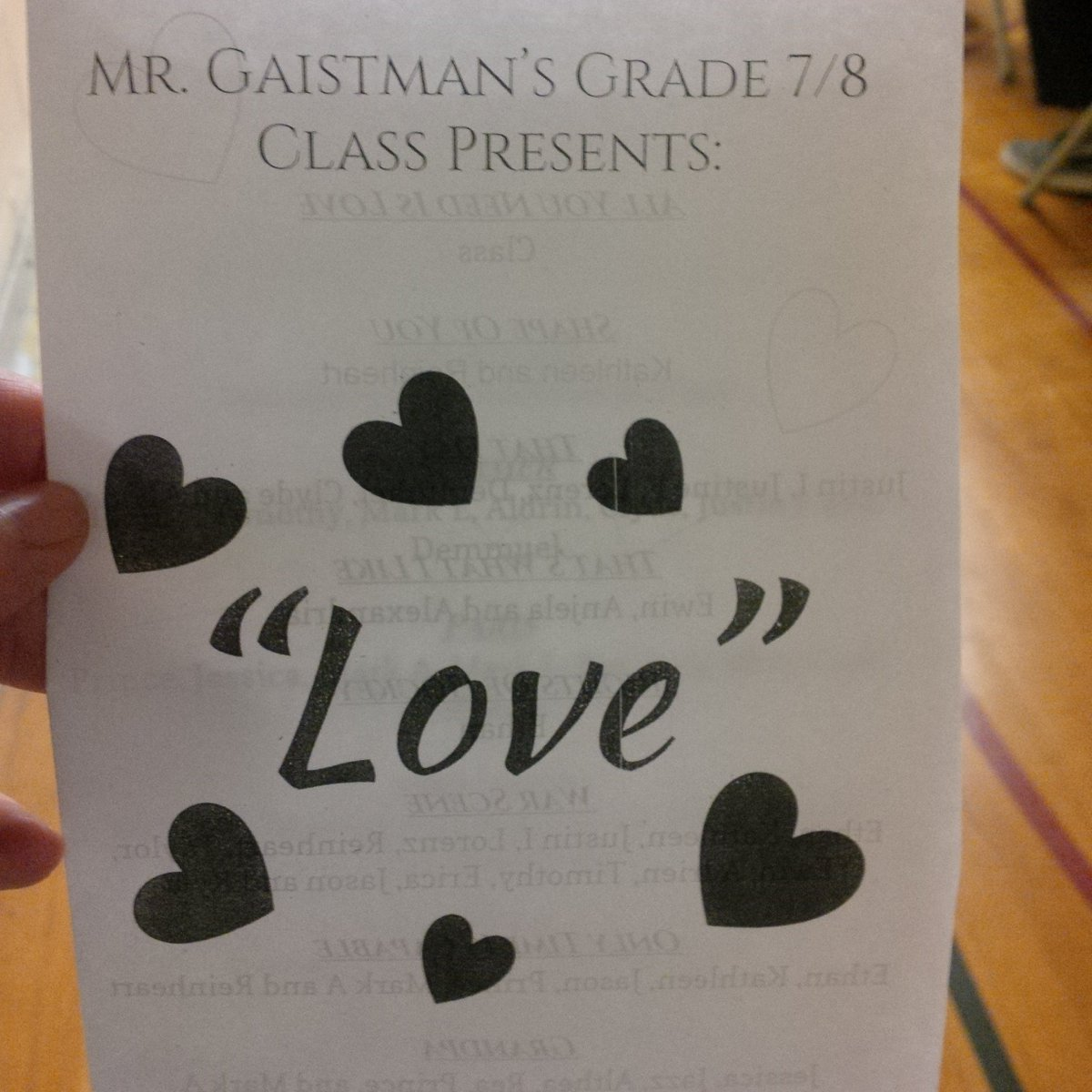 The Grade 7 8 Production Tdsb