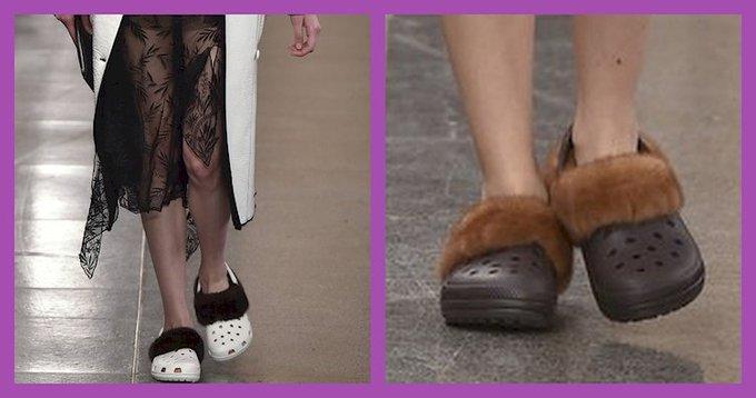Furry Crocs Made A Debut At Fashion Week