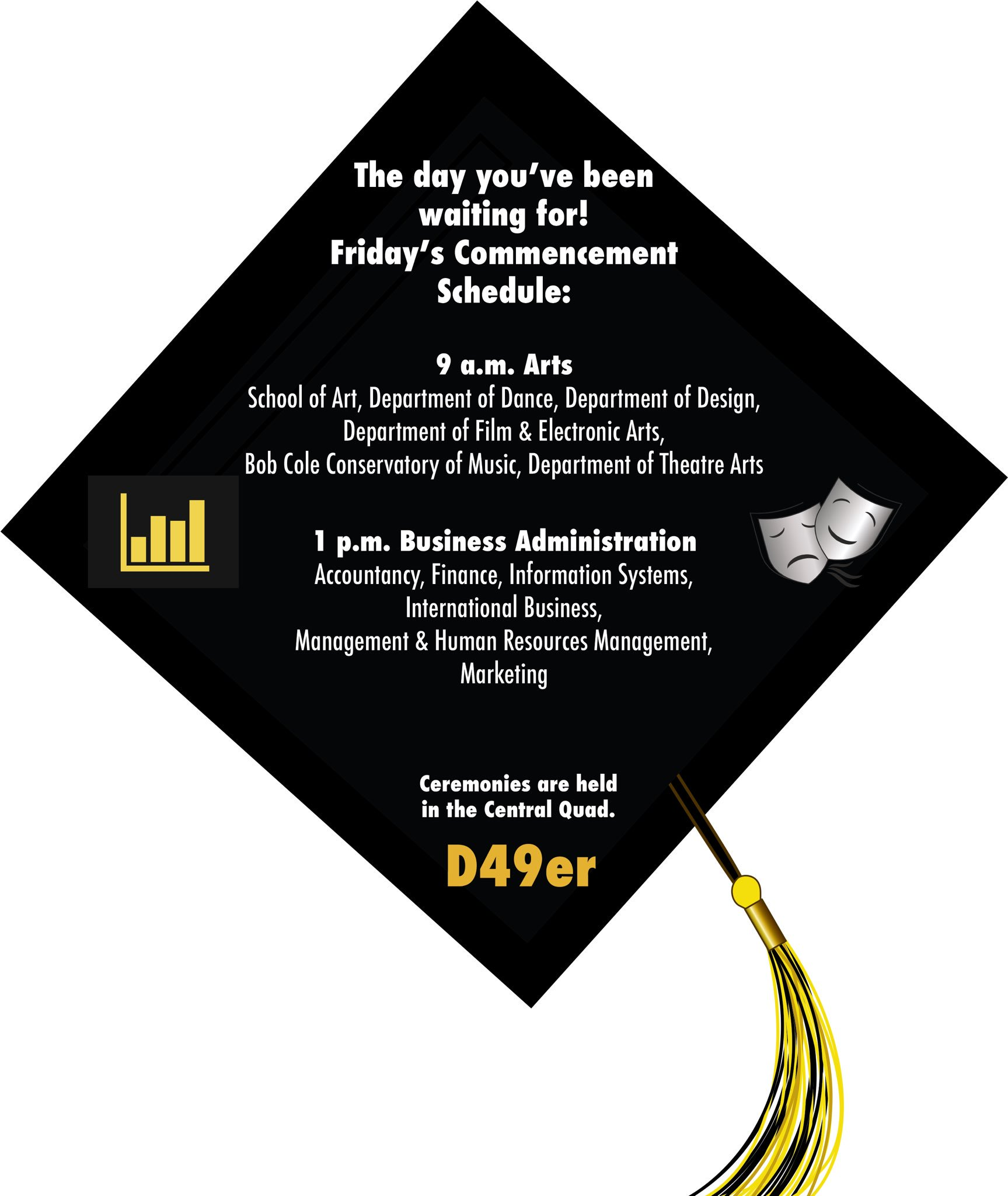 It's almost time!  Don't be late to Friday's @CSULB commencement ceremonies! #CSULB #Commencement #Graduation #Classof2017 https://t.co/AM9xAad9sC