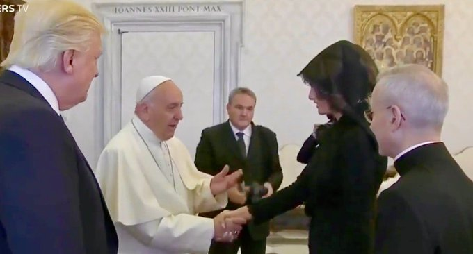 Melania Trump first Catholic in White House in decades https://t.co/q5pZGkeb0F