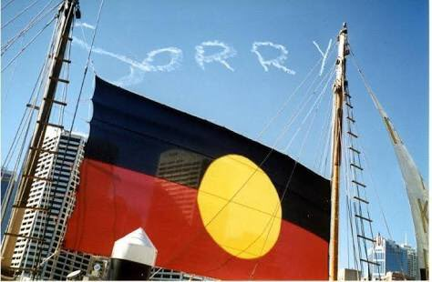 It is National #SorryDay.  We believe there can be no justice for #refugees without justice for #Indigenous People first  Today we say SORRY<br>http://pic.twitter.com/jN06Ht7p35