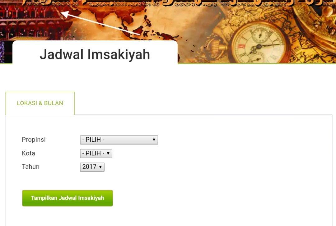 Dapatkan jadwal imsakiyah untuk seluruh wilayah Indonesia melalui http...