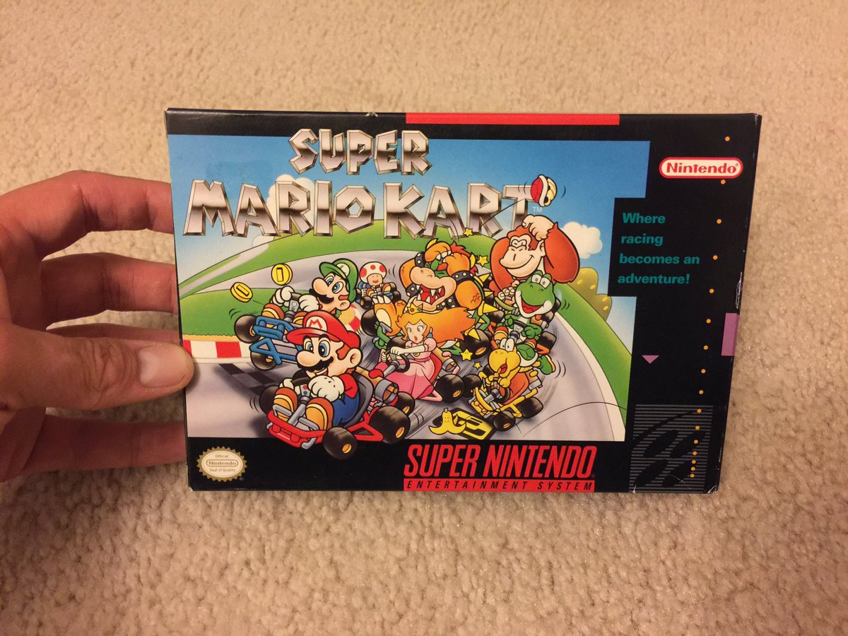 Before there was #MarioKart8Deluxe there was this! Know your roots! #snes #supermariokart #retrogaming #16bit #videogame #tbt #nerd #geek<br>http://pic.twitter.com/GRFHplzZ1S