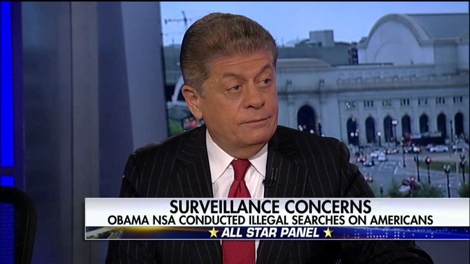 .@Judgenap: Lack of Outrage Over NSA's Illegal Searches Is 'Astounding' @SpecialReport @BretBaier https://t.co/FjwDKu8bi5