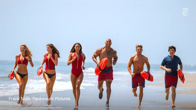 Review: 'Baywatch' is 'soft-serve ice cream. Crinkle-cut fries. A hot car and a skin rash.' https://t.co/2HyjdIO3n3