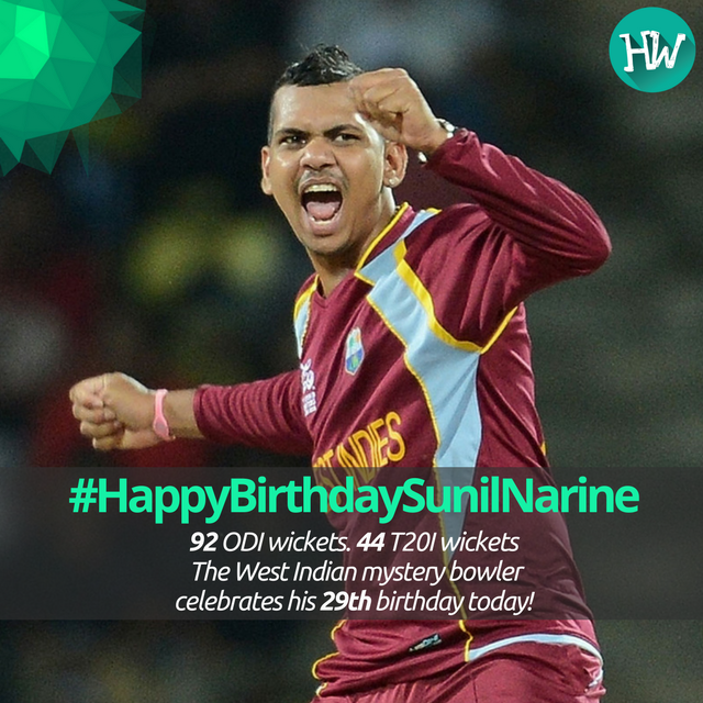 #HappyBirthdaySunilNarine One of the most influential spinners of modern cricket celebrates his Birthday today! #KKR #WI #CT17<br>http://pic.twitter.com/PSjRAAAvgu