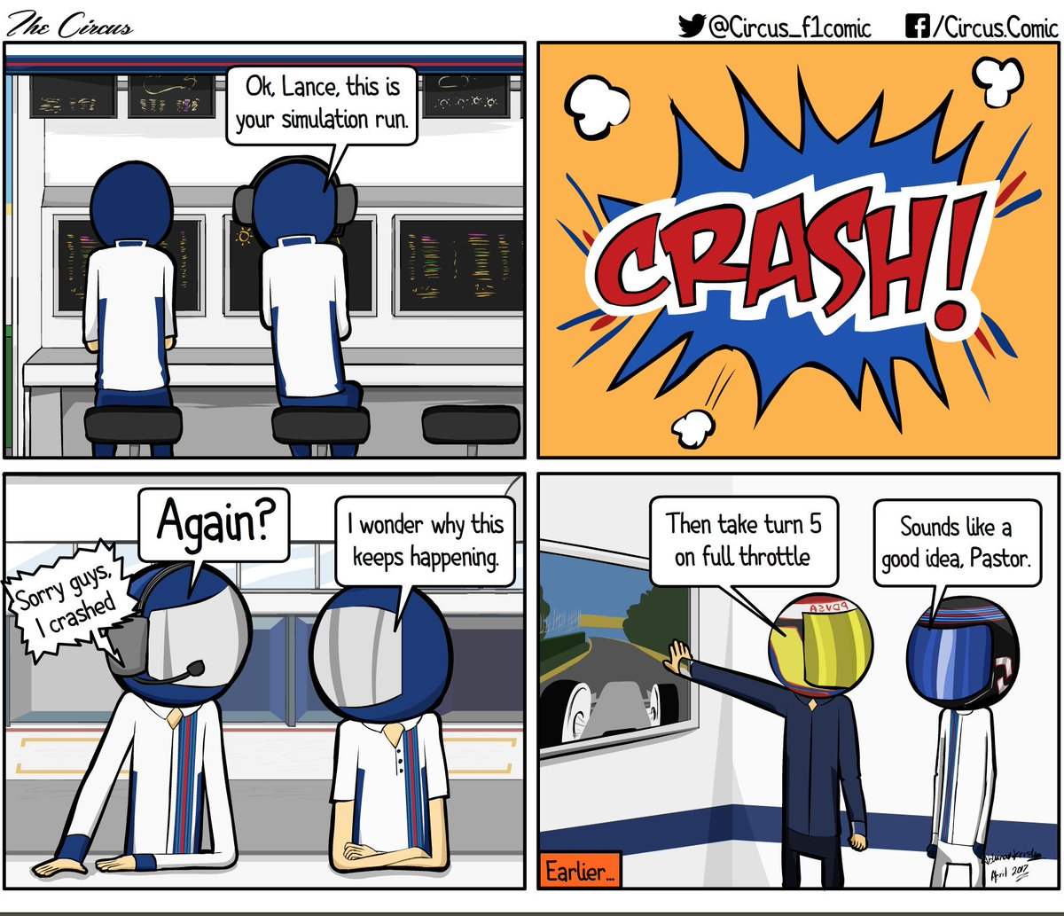 The Stroll Situation #MonacoGP #F1 via @Circus_F1comic #Williams #F1 #Crash #PS4<br>http://pic.twitter.com/zGMDuy343q