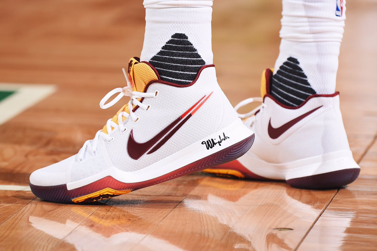 73f850fae3e7 A detailed look at the nike kyrie 3 pe for  kyrieirving in game 5 vs. boston