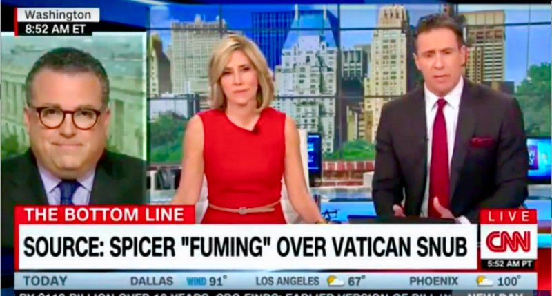 Sean Spicer 'fuming' after getting axed from Trump's Papal visit, says source https://t.co/IxSCV6uO5z