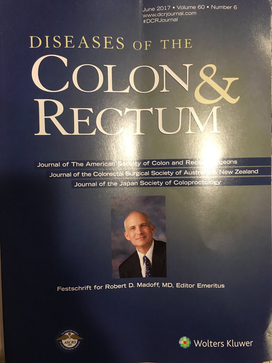 Hot off the presses! Our beloved leader gracing the cover! #madoff #dcr #festschrift #mncrsurgery #colorectalsurgery #colorectal<br>http://pic.twitter.com/zmeTzmp4AF