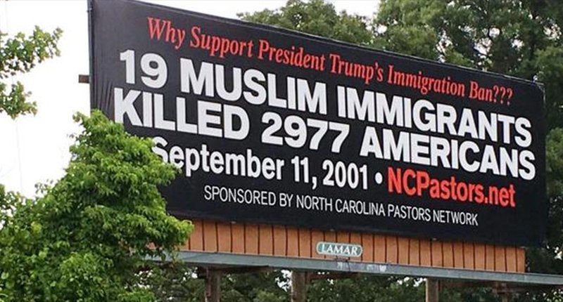 Nearby South Carolina residents feel that a new pro-immigration ban billboard may have gone too far https://t.co/HXxFcsLAgU