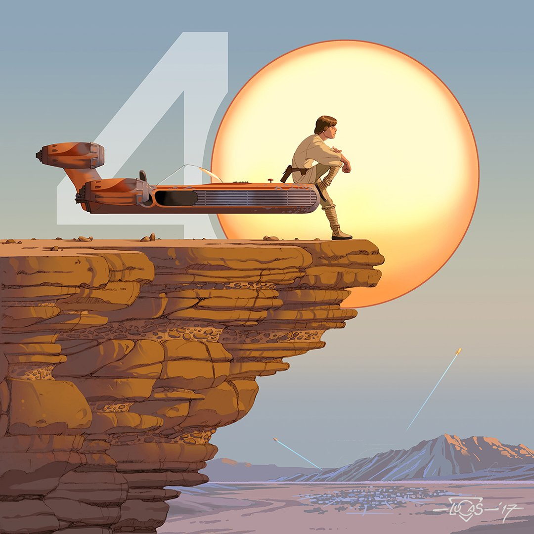 To 40 more years of imagination and adventure. #StarWars40th https://t...
