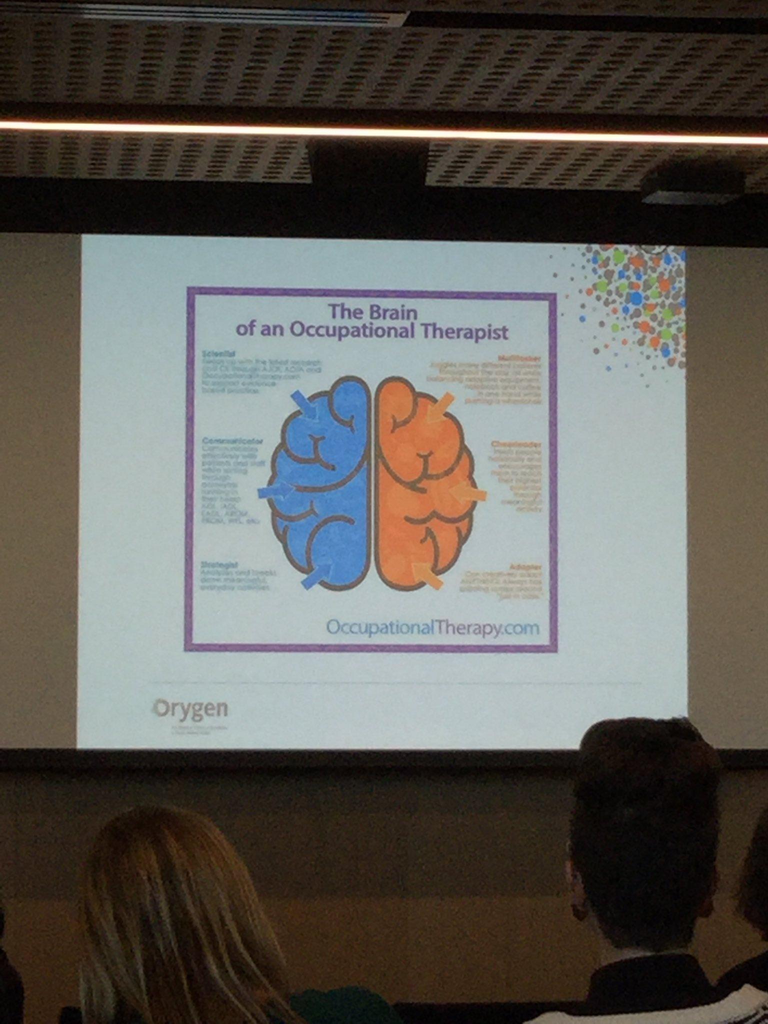 The brain of an OT, what a beautiful thing! @otaust @otaust_vic #mhotsymp2017 https://t.co/PQ4xcJT9Mk