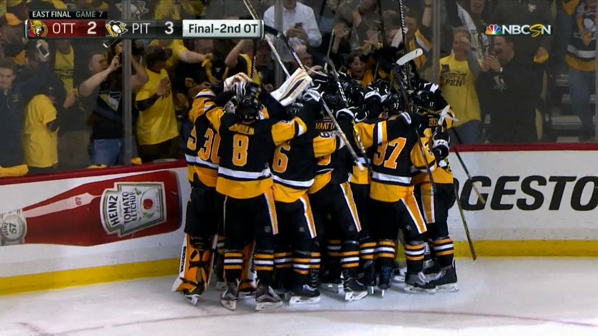 Pittsburgh heads back to Stanley Cup Final on Chris Kunitz's double-OT...