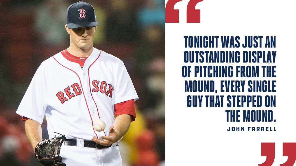 Farrell couldn't say enough about tonight's pitching performance:   #R...