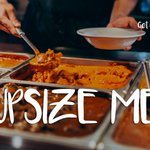 The UPSIZE ME special is back at #getcurried Mention this tweet for a free upgrade to XL curry when you order a large one until COB 28 May