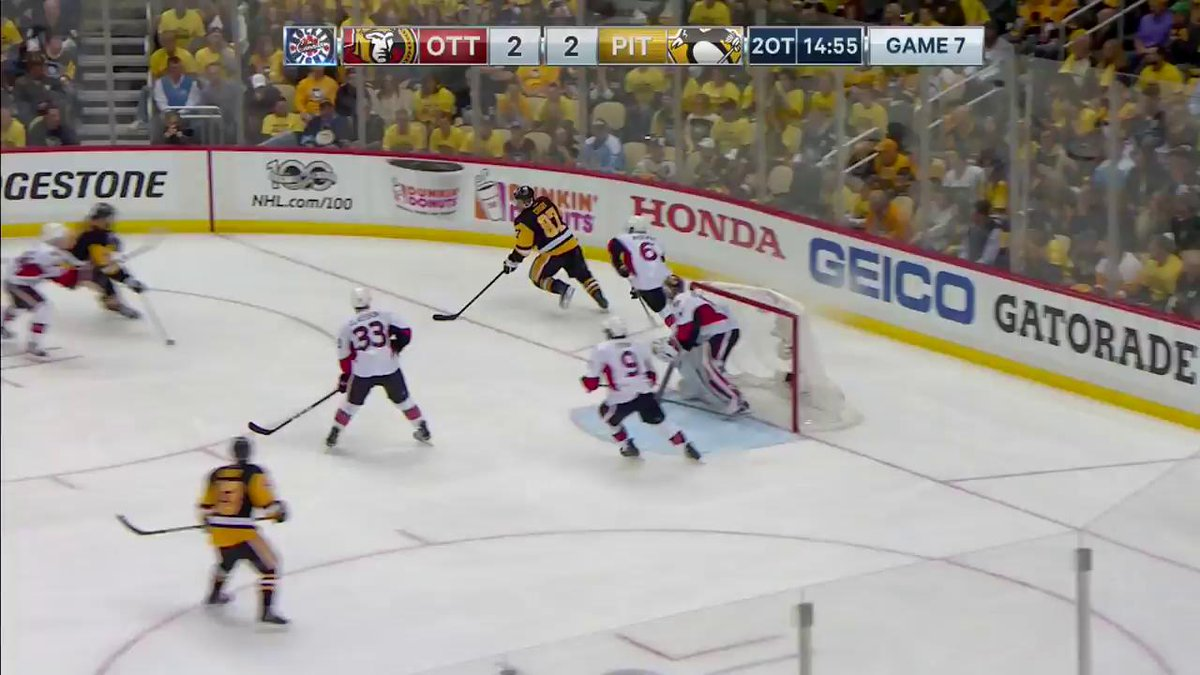 Chris Kunitz scores the @WestJet Double-OT winner in Game 7 to send th...