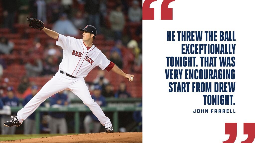 After tonight's game Farrell highlighted an outstanding outing from @D...