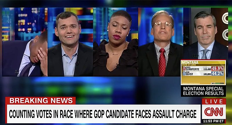 CNN @donlemon   panel crushes Trumpster Jack Kingston after he defends 'body slamming' Montana Republican https://t.co/23Tw9iBy01