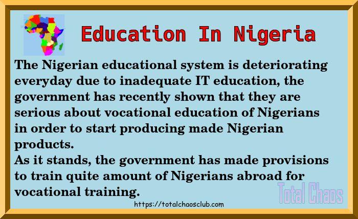 #Nigerians will start having #Vocational #Education very soon.<br>http://pic.twitter.com/jB2gmXbOIO