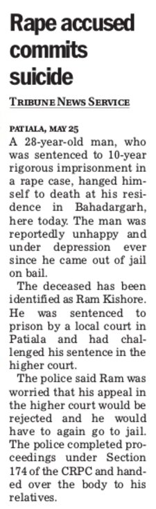 #fakecase now #men has done #suicide for a case not proved who will payback his life<br>http://pic.twitter.com/TYMrx0D7a7