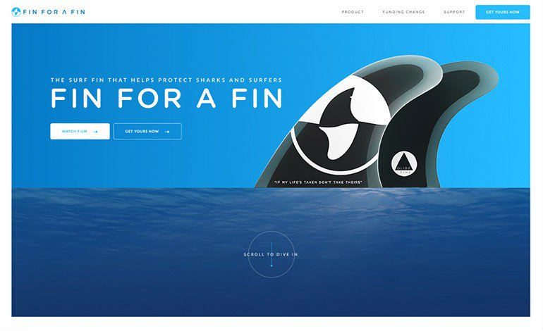 #Featured of the 26 May 2017 FIN FOR A FIN @finforafin by Leo Burnett Melbourne @leoburnettmel  http://www. csslight.com/website/19983/ FIN-FOR-A-FIN &nbsp; … <br>http://pic.twitter.com/vLBnaBnycL