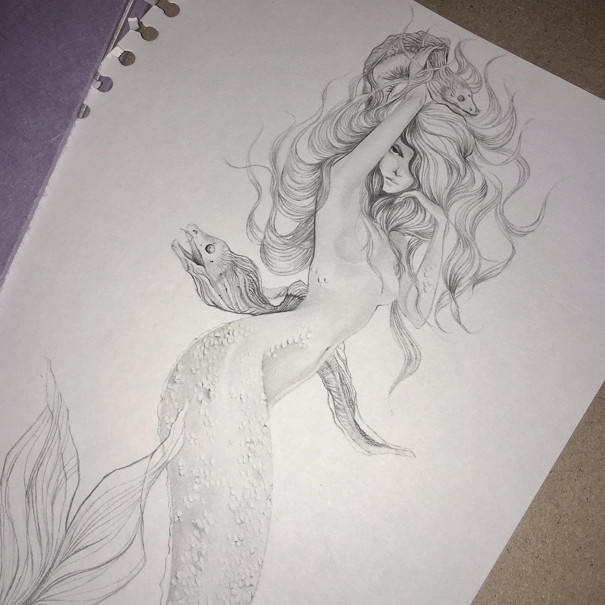 Liliana Domínguez On Twitter Mermaid Drawing Practicing Some