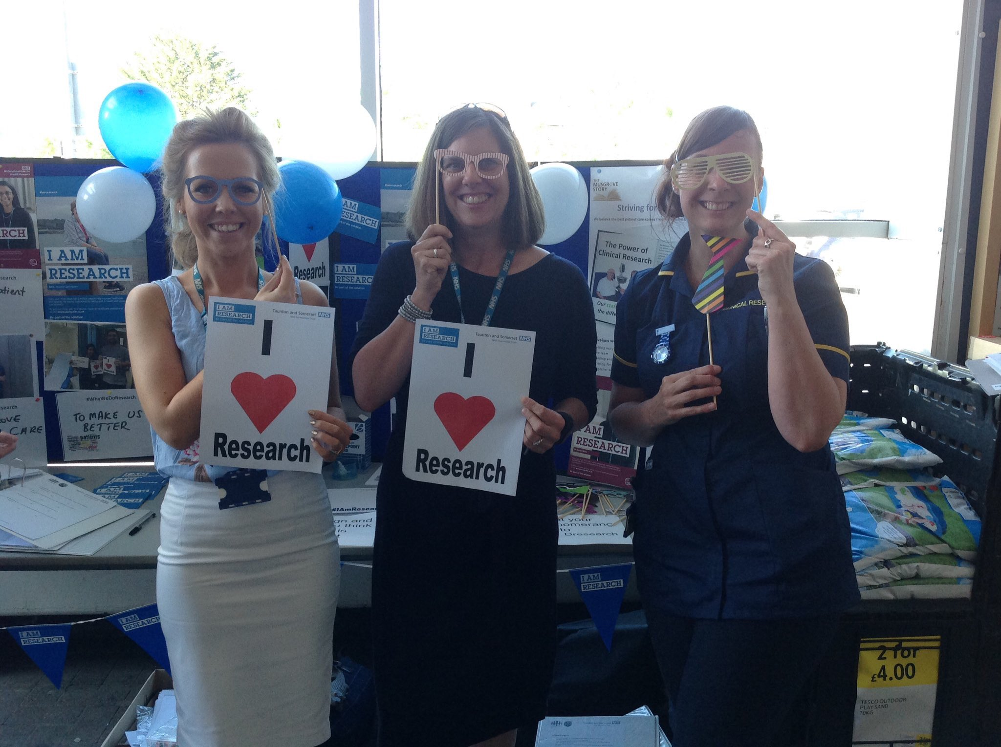 Visit our pop up photo booth today @Tesco superstore Taunton to learn #WhyWeDoResearch in your area!! @CountyGazette @OfficialNIHR https://t.co/yZQBhJDwKx