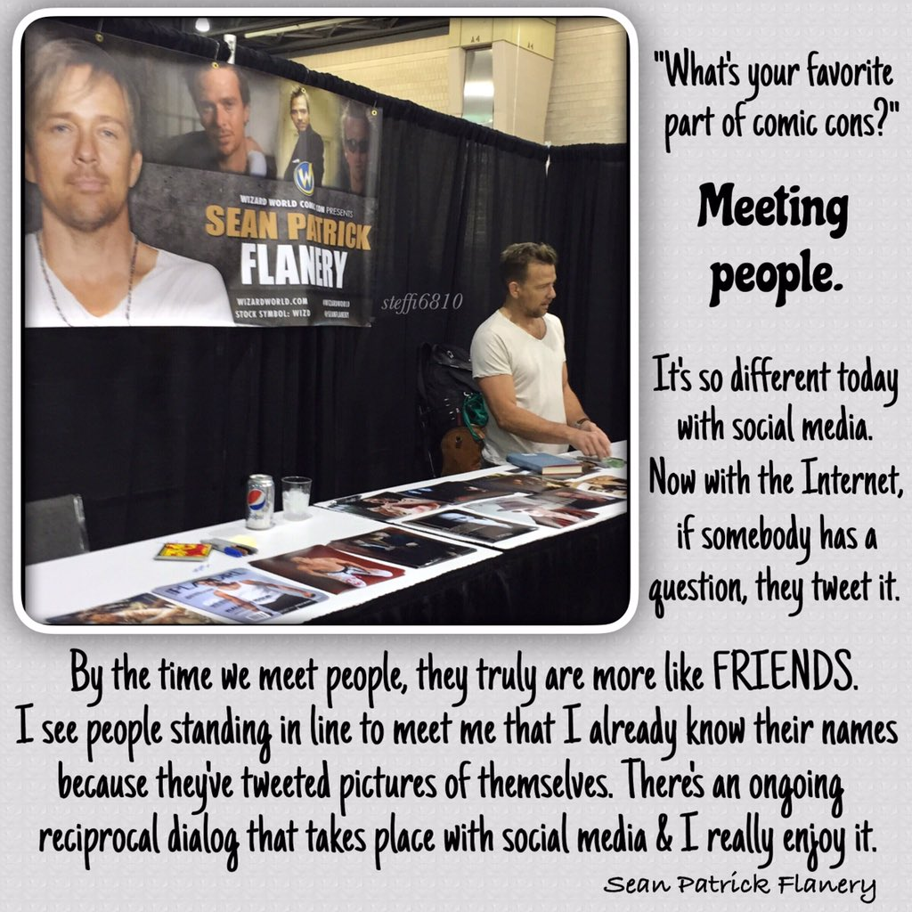 &quot;My favorite part of cons is MEETING PEOPLE.&quot; - @seanflanery  Love seeing theat those weekends! #Nashville 8 days  https:// instagram.com/p/BUjZiR2FsRN/  &nbsp;  <br>http://pic.twitter.com/reZzDHIYfb