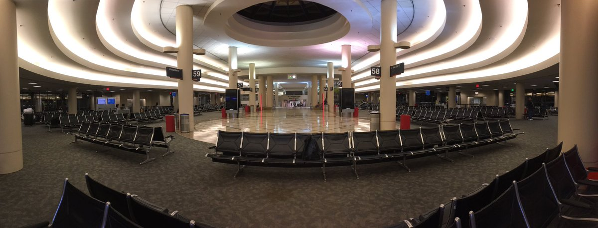 Near-empty terminal @flyLAXairport during this ridiculously early hour...