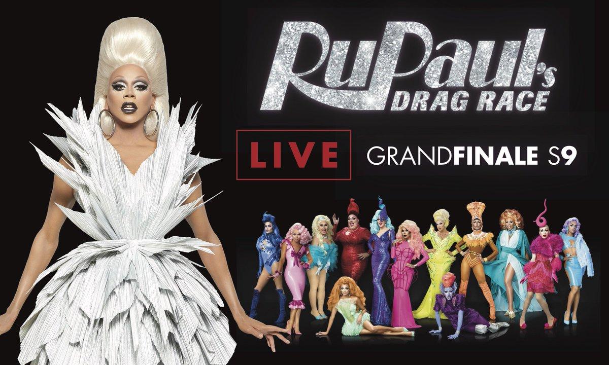 LIVE FINALE! #DragRace Friday June 9th #RupaulsDragRaceS9finale TICKET...