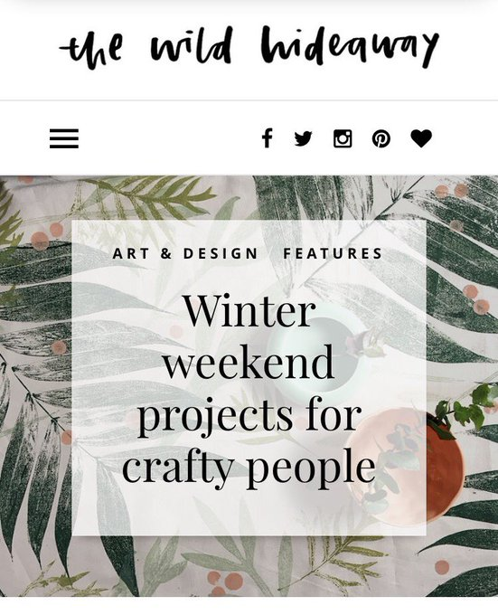 Winter weekend projects for crafty people