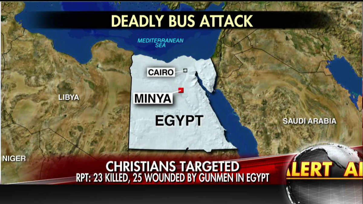 Gunmen reportedly open fire on bus carrying Coptic Christians in Egypt...