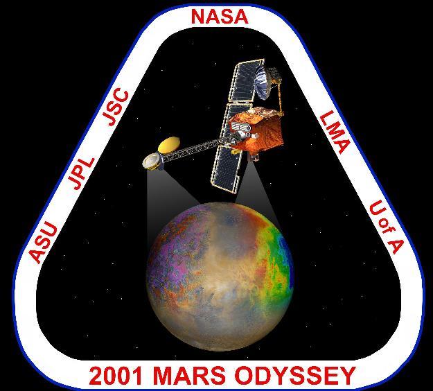 Resultat d'imatges de La nau 2001MarsOdyssey de la NASA