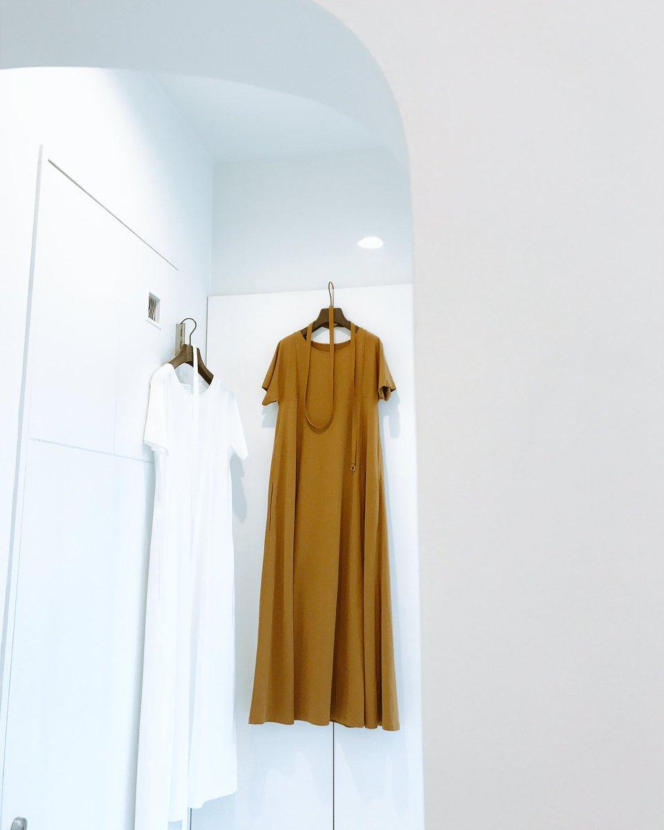 LEMAIRE SS17  TEE-SHIRT DRESS  Left:CHALK Right:TOBACCO  #yokoaunty #lemaire #ss17 #selectshop #japan #宇都宮市 #fashion #beautiful #summer<br>http://pic.twitter.com/Cju6D1VWJi