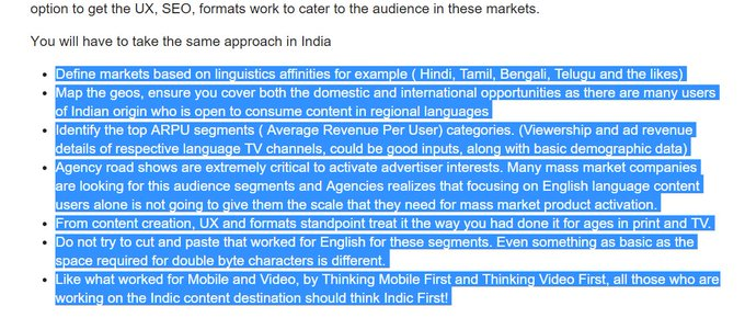 Local language content : What strategies will work? Some interesting insights. https://t.co/MsbOOrwXfF