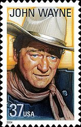 Sept 9, 2004 stamp issue pay tribute to icon #JohnWayne w/ a stamp based on a still taken during filming of The Man Who Shot Liberty Valance <br>http://pic.twitter.com/jERtWcY72B