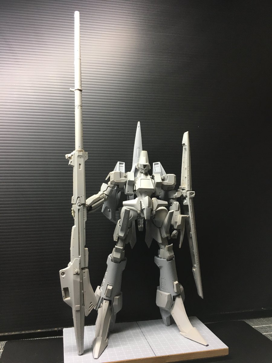 1/90scale Lgaim Mk2 [Ahmes Mk2 GRAYON latetype] with BUSTER LAUNCHER RB 仮組画像など。
