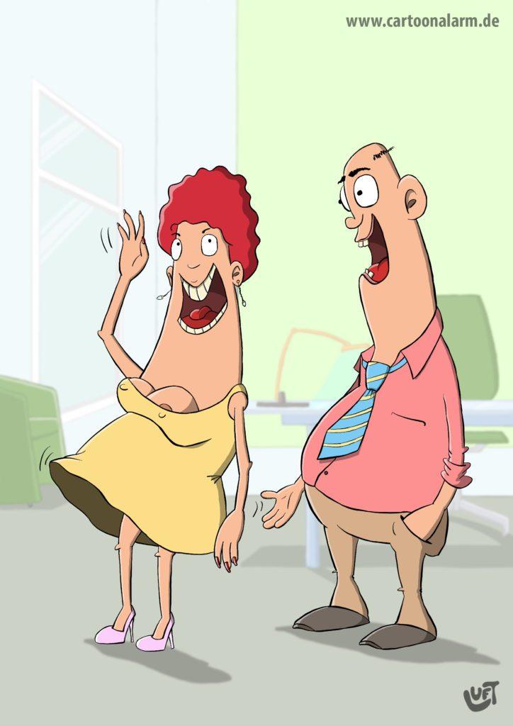 Thomas Luft On Twitter Cartoon Lustig Spass Klaps Mann Frau