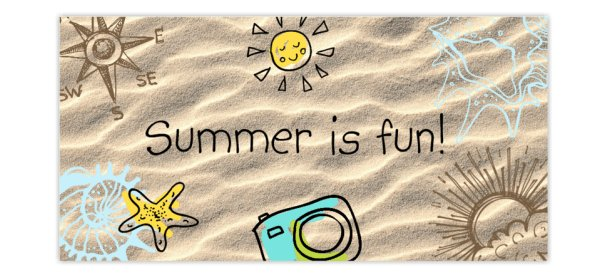Create your own postcard for this summer
