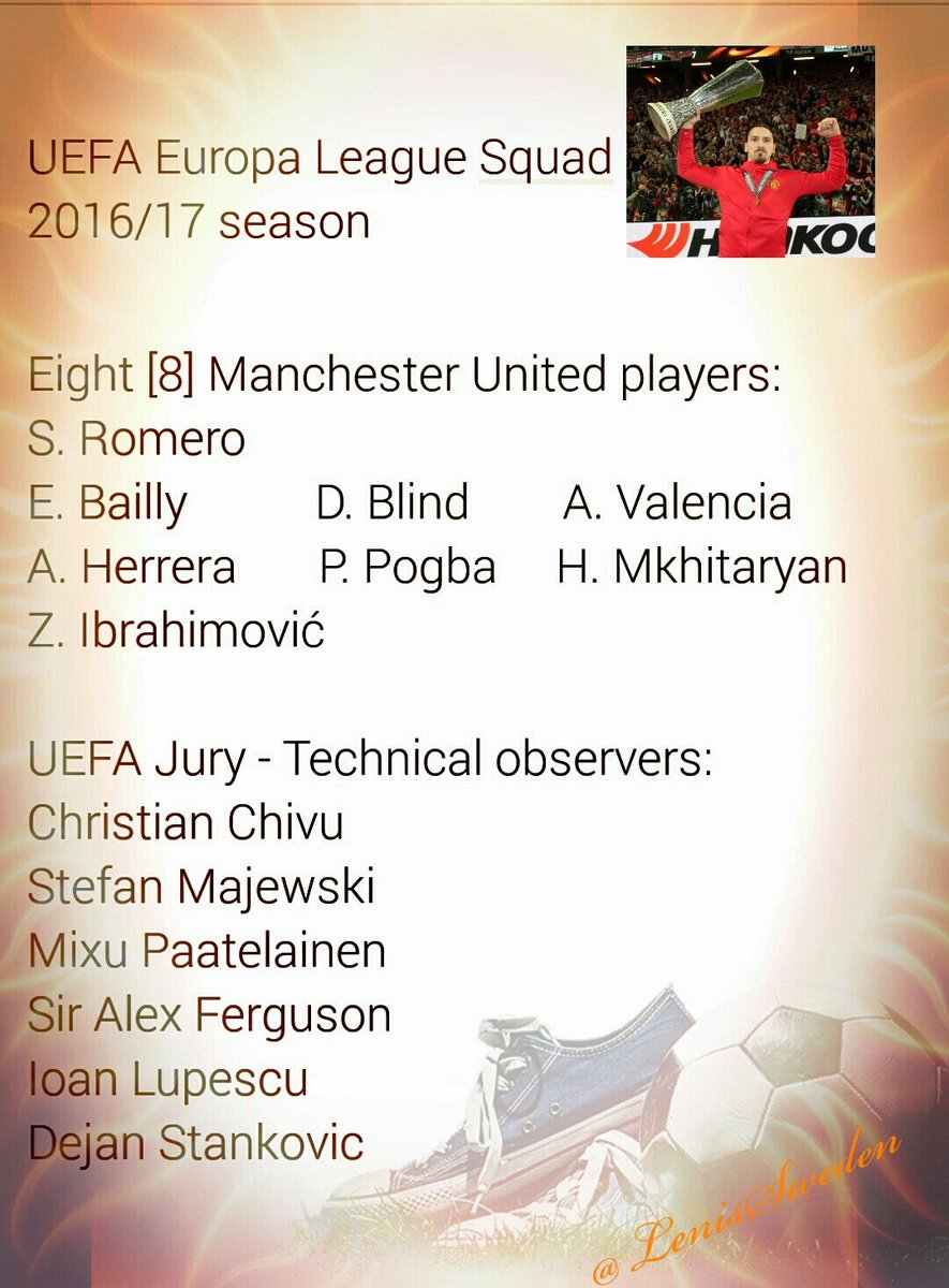 18-man squad 2016/17 season   8 #MUFC players!  @ManUtd #UEFA #EuropaLeague #Ibrahimovic <br>http://pic.twitter.com/ZaIyfAaRQT
