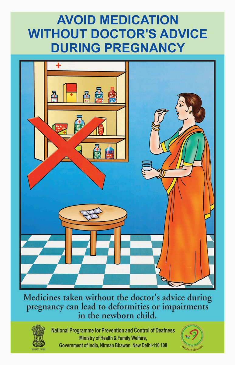 Do not consume medicines without a doctor's advice and prescription during #pregnancy. Protect self &amp; your #newborn child. #SwasthaBharat<br>http://pic.twitter.com/IKYb6lNLyJ