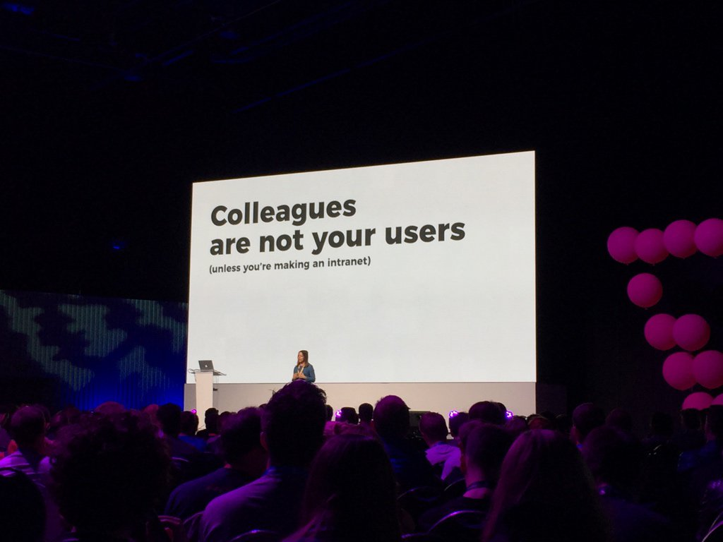 We are so deeply entrenched in web dev that we are no longer representative of the average user @idaaa #FrontTrends https://t.co/R3aVEzwjEK
