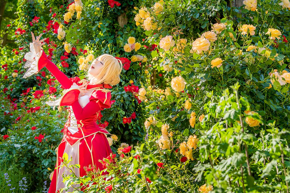 「奏者よ!」 『マスターよ!!』  『「赤薔薇と白薔薇…どちらを手折りたい?」』  character:ネロ・クラウディウス model:ゆう @yu_know_what