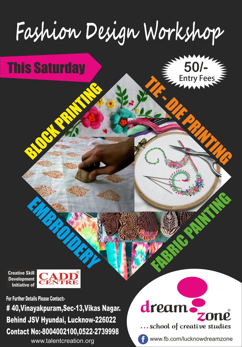 Dreamzone School Of Creative Studies On Twitter Dreamzone Vikas Nagar Is Organizing Fashion Designing Workshop Where They Will Teach Many Exciting Skills Visit Https T Co Bmgpg6w0no Https T Co 6rbxwdk2d1