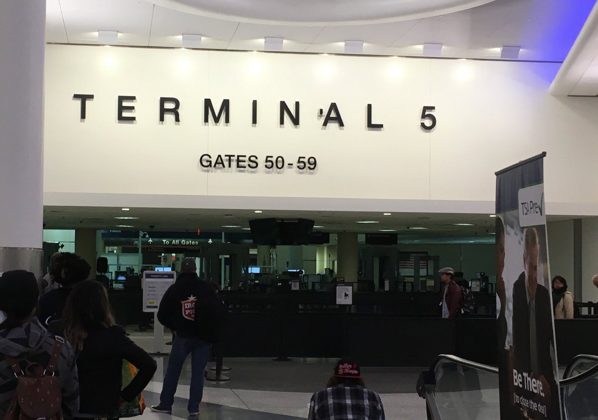 At @flyLAXairport so early the @TSA isn't even here yet #LongWaitAhead...