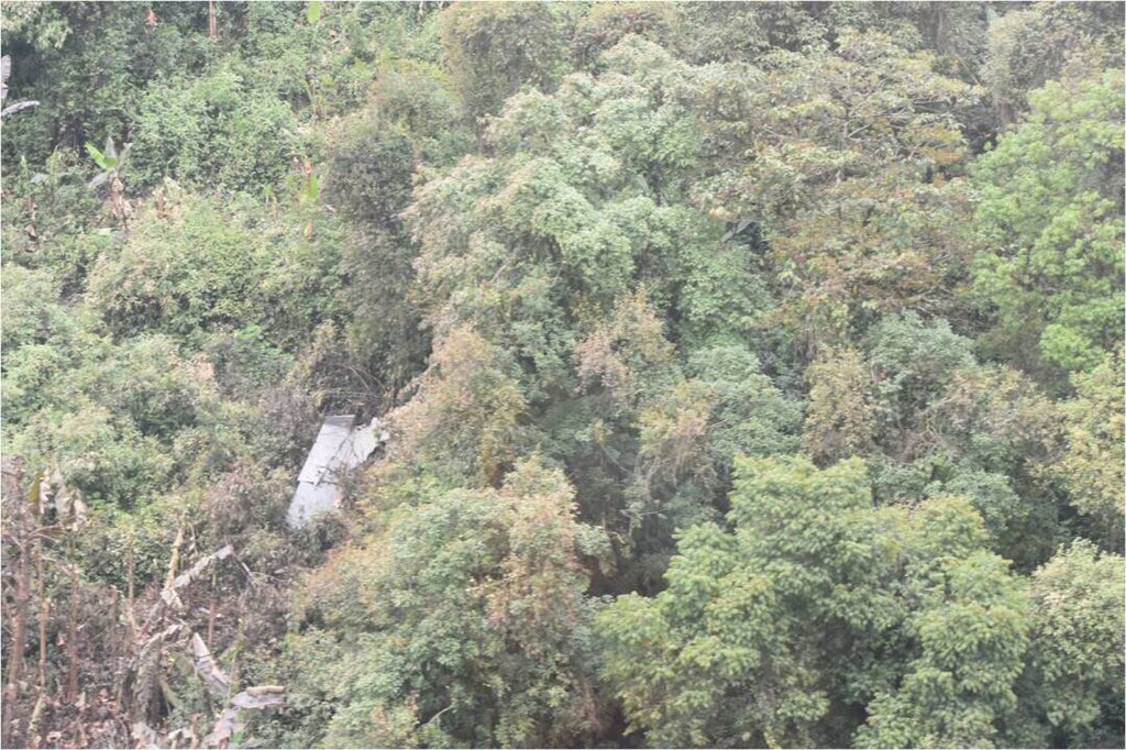 First picture of the IAF Su-30 wreckage in the Rupa Valley of Arunachal Pradesh.